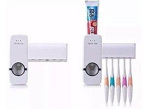 Kit 30 Dispenser Automático Pasta  Dente + Suporte Escovas