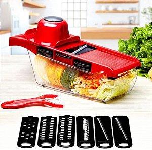 Kit 2 unidades Mandoline Slicer Nicer Cortador De Legumes 6 Em1