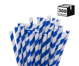 300 un Canudos De Papel Biodegradável 6mm Espiral