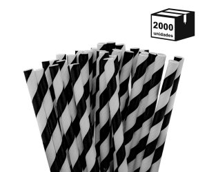 2000 un Canudos De Papel Biodegradável 6mm Espiral
