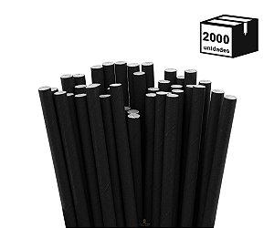 2000 Unidades Canudos de Papel Biodegradável 6mm