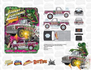 Pré venda - Weekend of Wheels Johnny Lightning Zinger 79 Chevy Silverado Rat Fink Convention Exclusive - Novembro 2022 - Leia a descrição