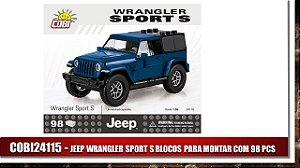 JEEP WRANGLER SPORT S BLOCOS PARA MONTAR COM 98 PCS - Azul