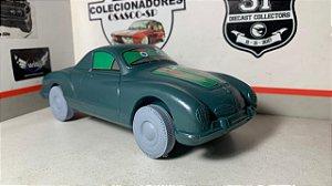 Karman Ghia - verde com rodas azul -  Worldplas