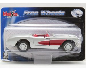 '57 Chevrolet Corvette - Free Wheels - 1/39 - Maisto