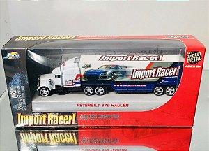 Jada Import Racer Baller Haulers Peterbilt 379 Semi Truck Trailer - 1/64 - Raridade