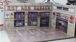 Diorama Hot Road Garage - MDF - 1/64