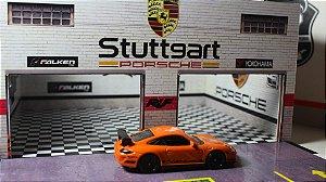 Diorama Garage Porsche - 1/64 - MDF