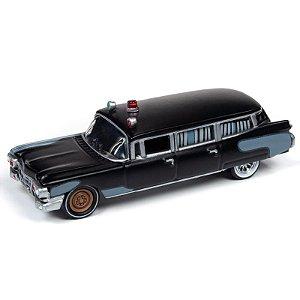 1:64 - 1959 Cadillac Eldorado Ambulance - Ghostbusters - Silver Screen Machines - Johnny Lightning