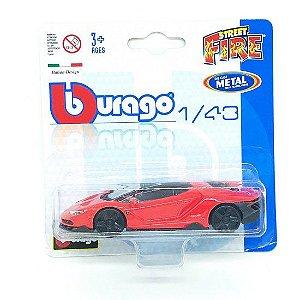 Lamborghini Centenario - Street Fire - Vermelho - 1:43 - Burago
