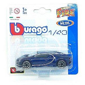 Bugatti Chiron - Street Fire - Azul - 1:43 - Burago