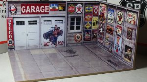 Diorama Hot Garage - 1/64 - MDF