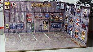 Diorama Garage - 1/64 - MDF