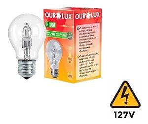 Lampada Eco Halogena Clara H100 70w Ourolux