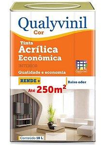 TINTA LÁTEX ACRÍLICA ECONÔMICA COR 18.L QUALYVINIL