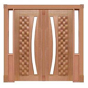 Portal Pivotante - 055 - Couro para Vidro em Arco