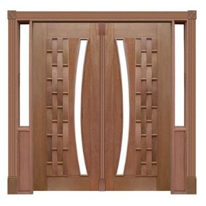 Portal Pivotante - 115 - Couro Longo para Vidro em Arco