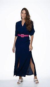 Vestido Teresa Azul Marinho