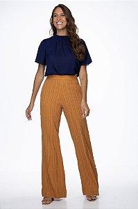 Calça Pantalona Bianca Caramelo
