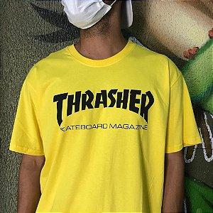 Camiseta Thrasher Magazine Skate Mag Amarela
