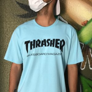 Camiseta Thrasher Magazine Skate Mag Azul