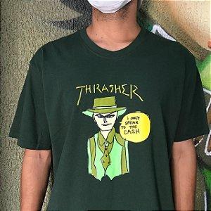 Camiseta Thrasher Gonz Cash Verde