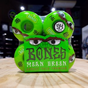 Rodas Para Skate Bones Mean Green 54mm 103A