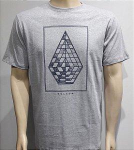 Camiseta Volcom Expel Cinza
