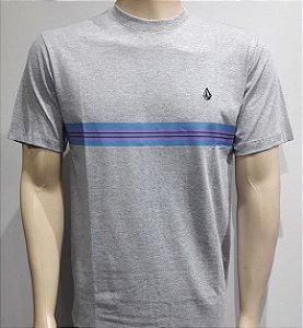 Camiseta Volcom Stone Line Cinza