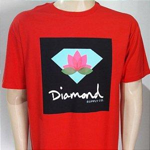 Camiseta Diamond Lotus Box Sign Tee Vermelha