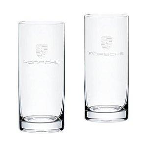 Conjunto de dois copos, long drink Porsche