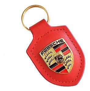 Chaveiro de Couro Porsche  ( Vermelho )