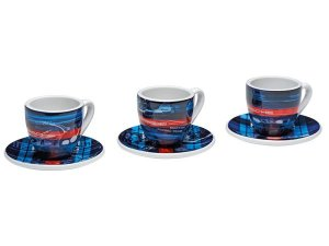 Conjunto Xicara Cafe Martini Racing