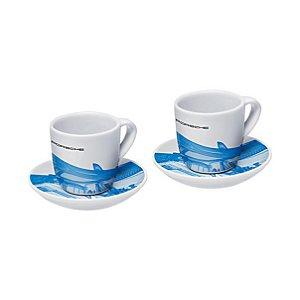 Xícaras de café expresso, edição limitada, coleção Taycan
