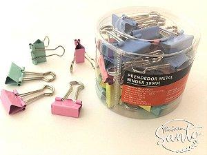 Prendedor Metal Binder Colors