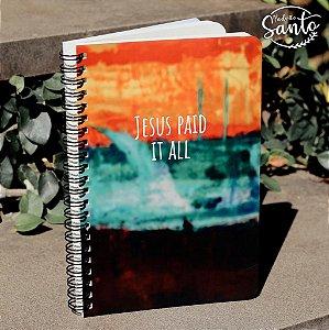 Caderno Jesus Paid Wire-O