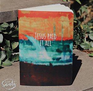 Caderno Jesus Paid s/ pauta