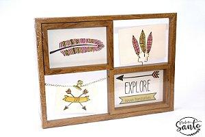 Porta Retrato/Quadro decorativo - Imitando madeira
