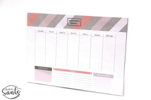 Planejamento Semanal - Rosa