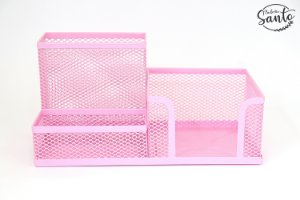 Porta objetos metálico - Cor Rosa