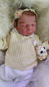 Bebê Reborn de Silicone Sólido Yasmin - Faz XIXI