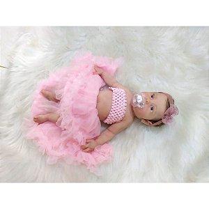 Bebê Reborn de Silicone Sólido Maria