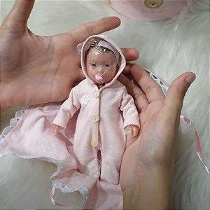 Mini Bebê Reborn Silicone Sólido Completo *Dulce*