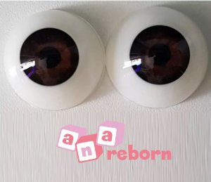 Olhos Castanho Escuro 06 MM *importado* Wd10