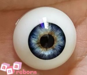 Olhos Azul Claro Reborn 10 MM *importado* sd01