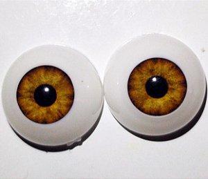 Olhos Castanho Claro 14 MM *importado* sd09