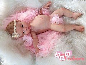 Bebê Reborn de Silicone Sólido Luz