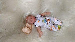 Mini Bebê Reborn Silicone Sólido Completo *João*
