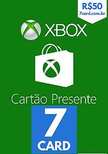 CARTÃO XBOX R$ 50 REAIS - BRASIL