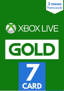 ASSINATURA XBOX LIVE GOLD 3 MESES
